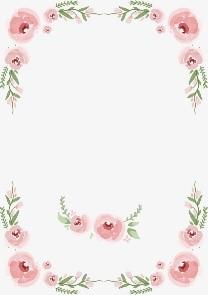 Flores en colores rosa pastel