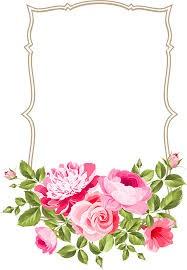 Marco de flores tipo espejo