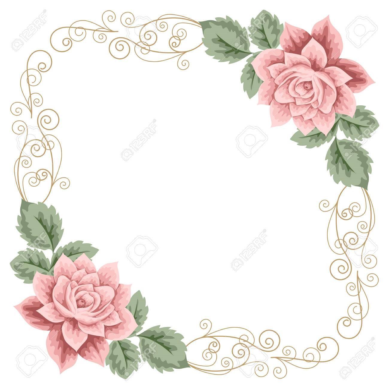 Marco de flores elegante