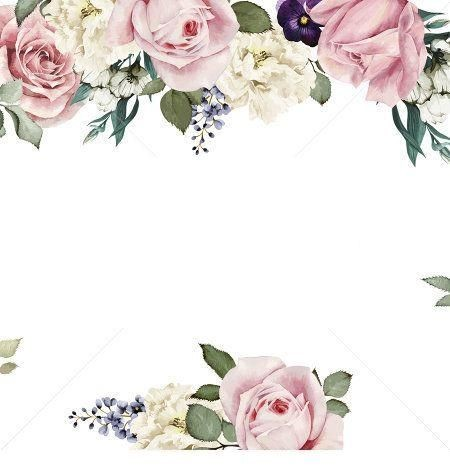 Marco de flores en color rosa vieja