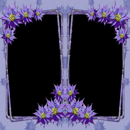 Marco de flores atípico