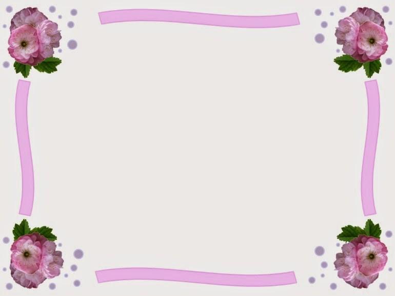 Marco de flores simple y rosado