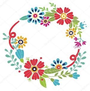 Flores y colores de diversión