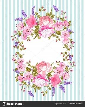 ¡Rosado, lila y azul!