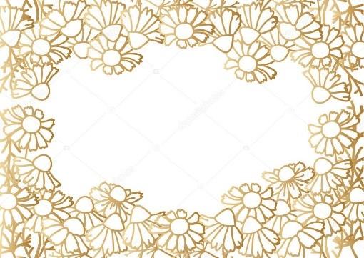 Marco de flores doradas