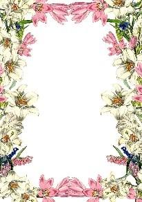 ¡Marco de flores en colores rosados, blancos y verdes!