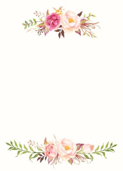¡Un marco de flores hermoso y atípico!