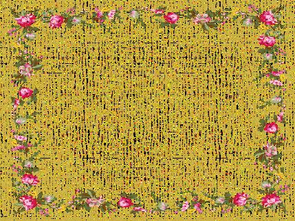Marco de flores tupidas