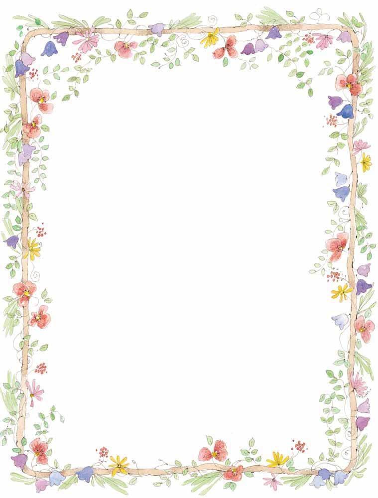 Marco de flores variadas