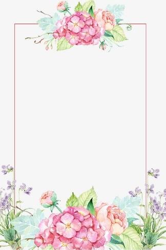 Marco de flores actual