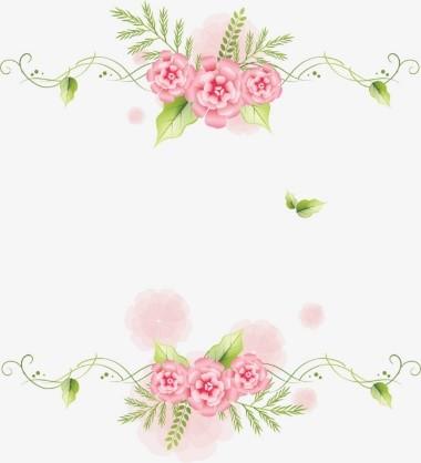 Marco de flores sobrio