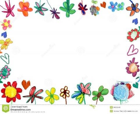 Marco de flores alocado y dibujado