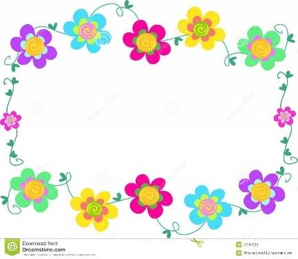 Marco de flores para niñas