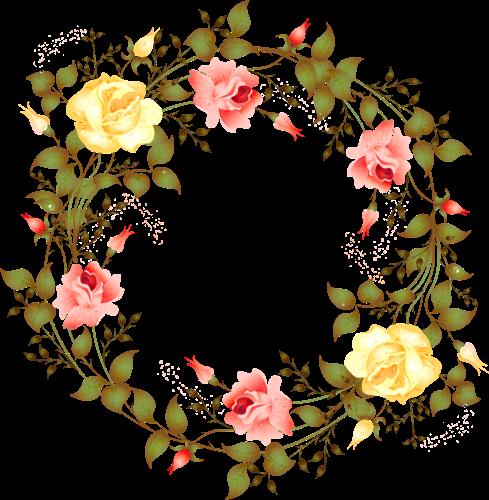 Marco de flores al estilo natural