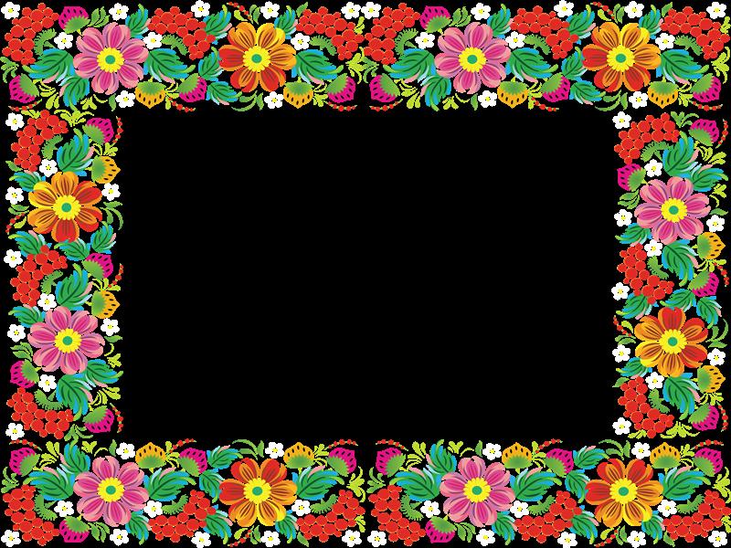 Marco rectangular combinado con muchos colores