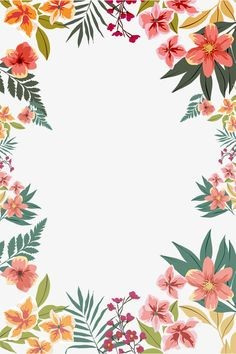 ¡Flores de acuarelas y colores!