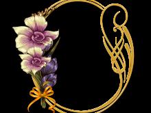 Bello marco con flores Narcisos para fotos