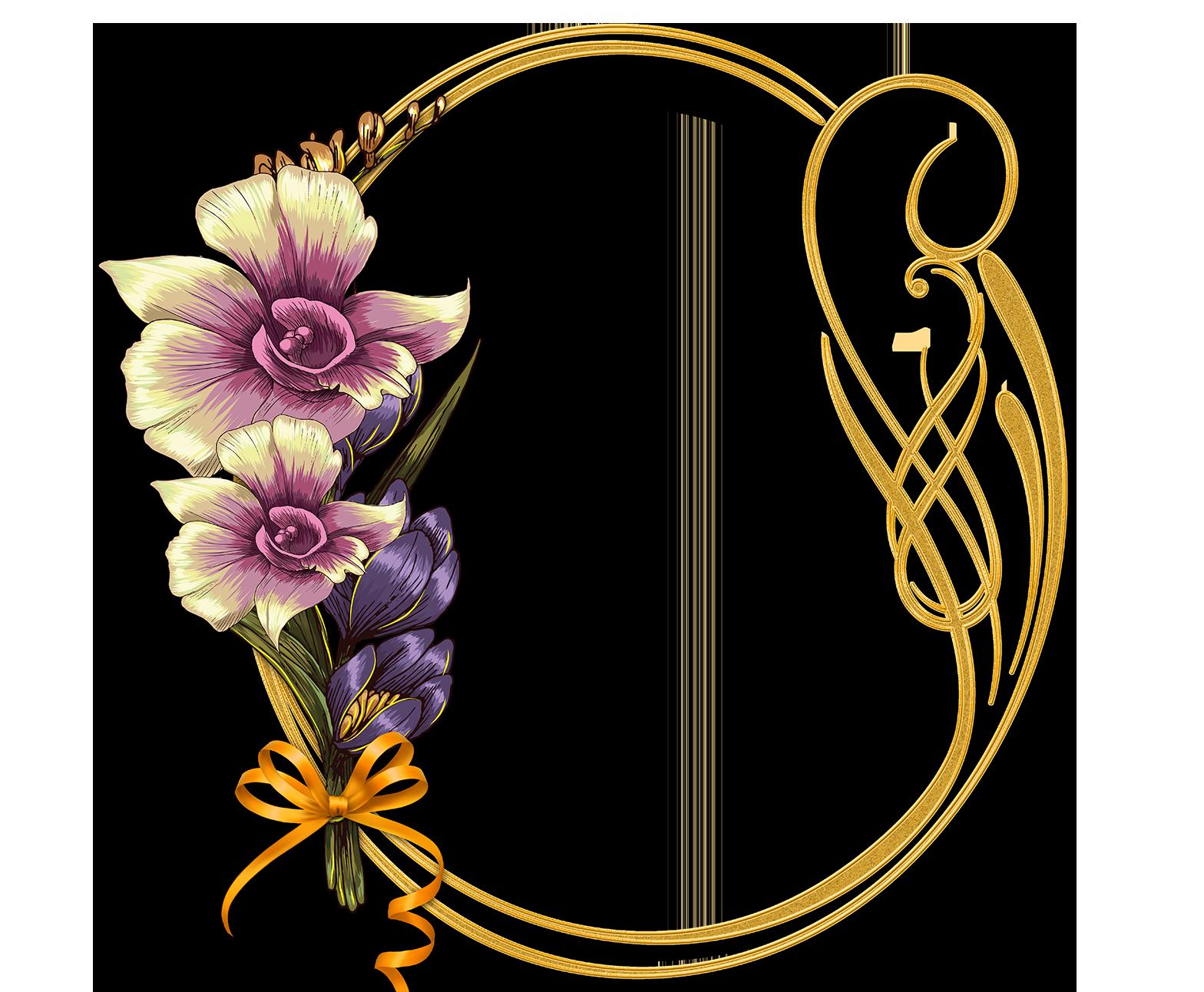 Marcos de flores para fotomontaje