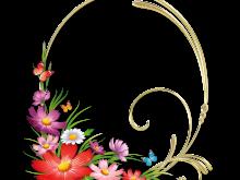 Marco con flores de colores muy bonitas