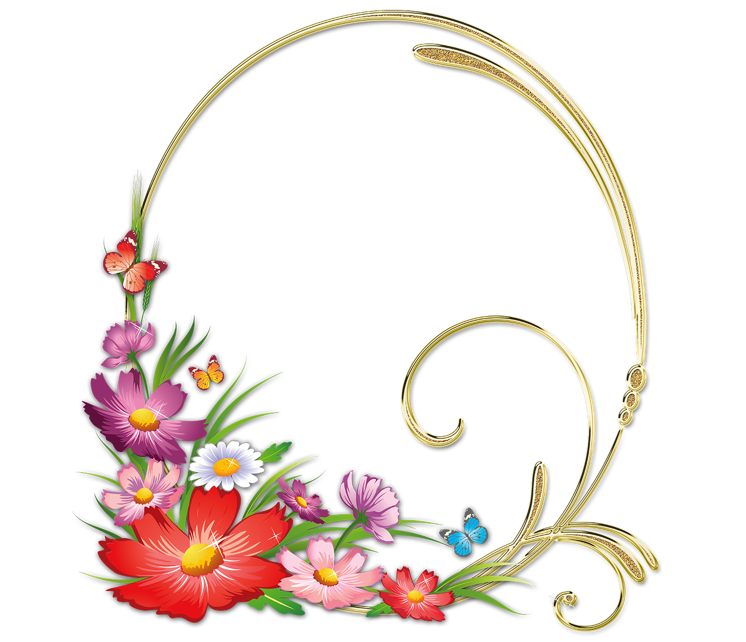 Marco de flores para fotos flores coloridas png marco de flores png - Marcos transparentes ...