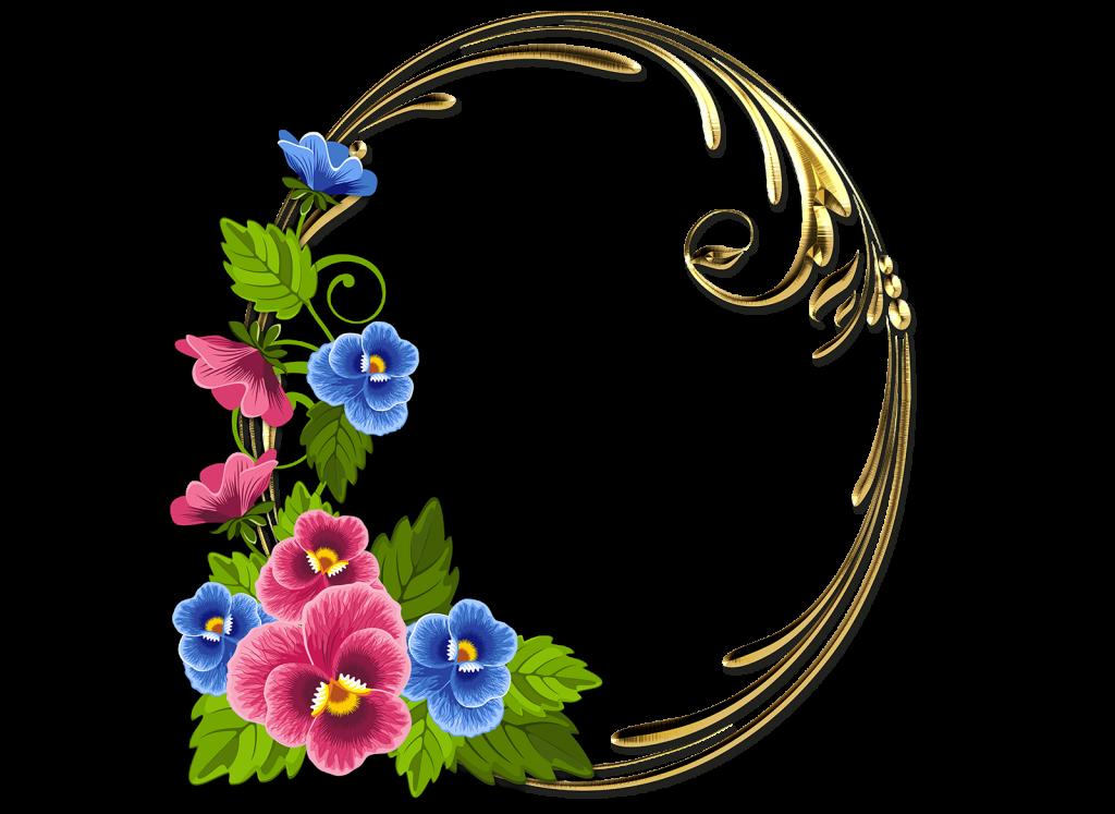 Marco De Flores Bonitas Rosas Y Azules