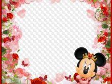 Fondo con Mini de Disney y Flores para niñas