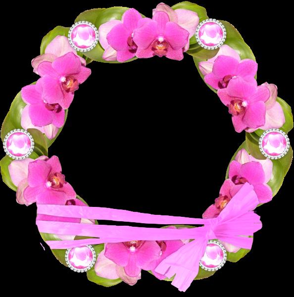 Maco redondo con flores al contorno