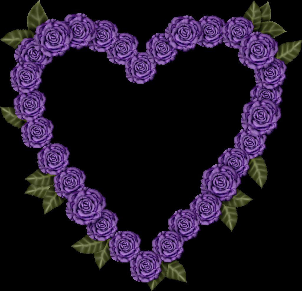 marco de rosas moradas