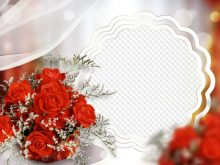 Marco de foto con rosas