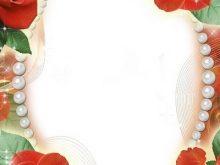 Marco de fotos para matrimonio con rosas rojas