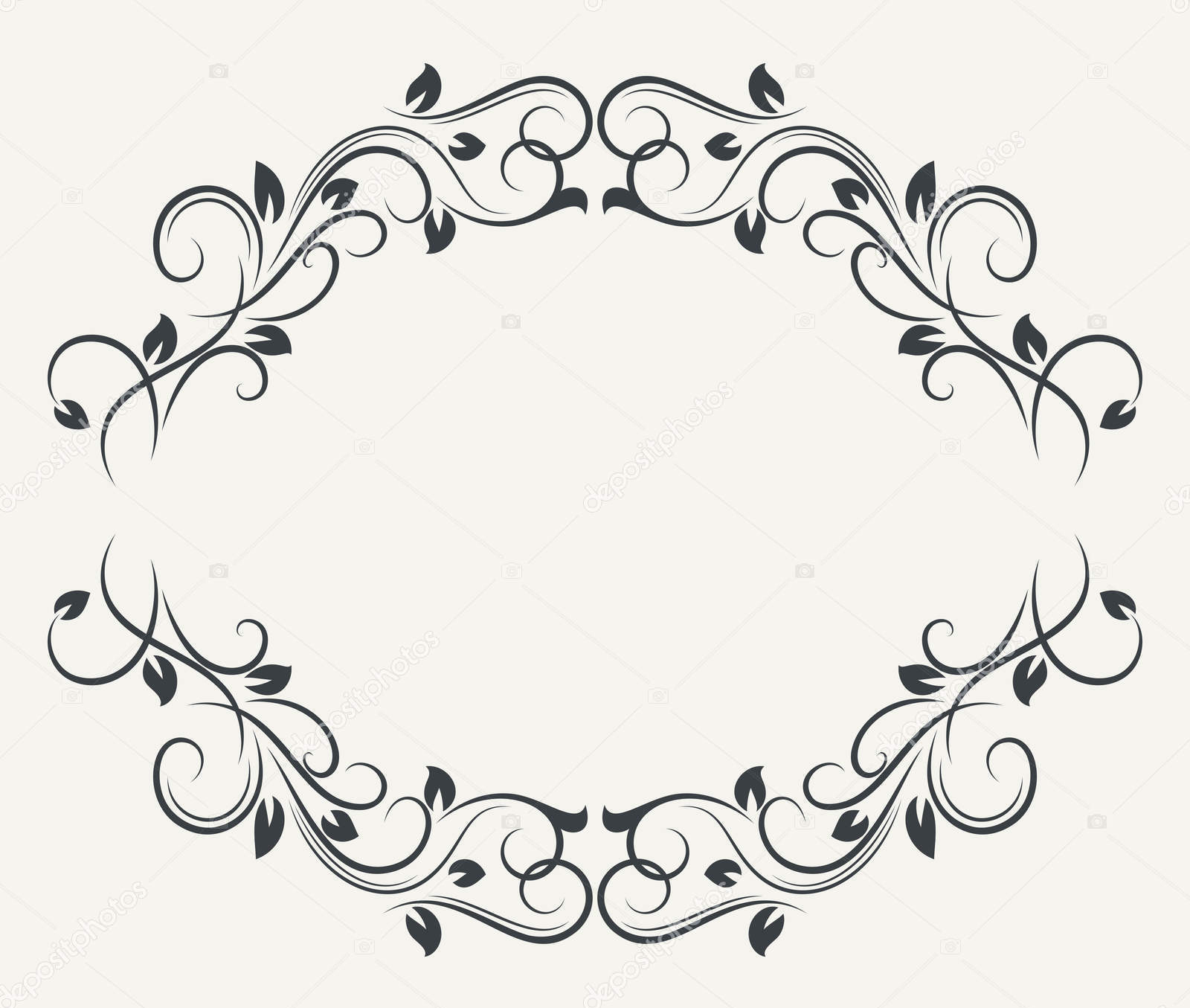 Black And White Floral Frame Marco De Flores Png