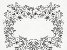 Marco de flores blanco y negro para fotos